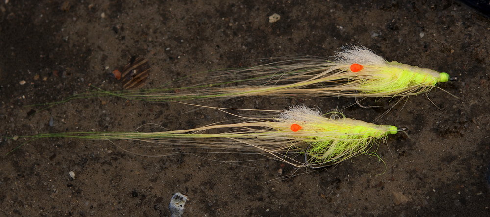 Pattegrisen Fl. Yellow Chartreuse tied by Claus Eriksen on NS150