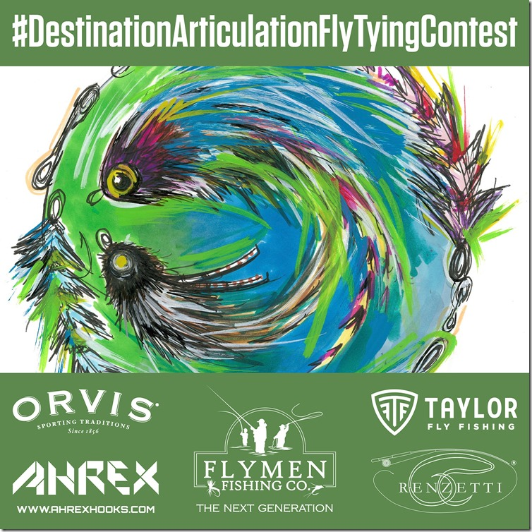 Destination Articulation Fly Tying Contest_Instagram poster