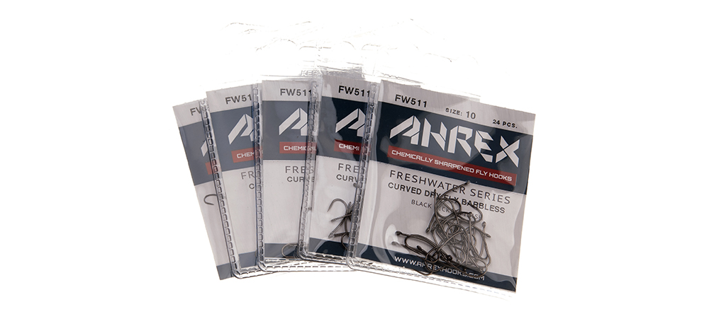 Ahrex FW511 Crochet-Best Sans Ardillon incurvée dry fly tying hooks-Pack de 24 NOUVEAU!