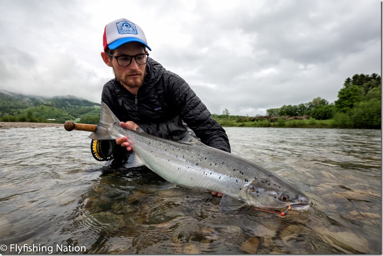 Stephan 81cm E2 Beat Hen in water Photo Credit The Flyfishing Nation