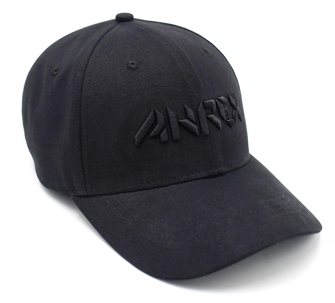 Ahrex Bold Script Cap – Black on Black-02