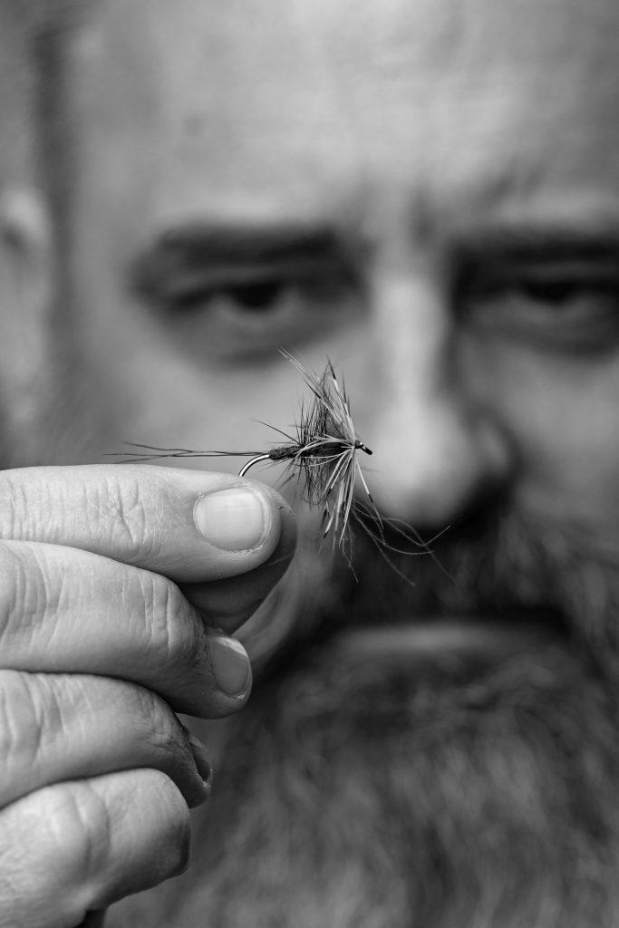 Portrait John Petermann + Fly-01 B&W